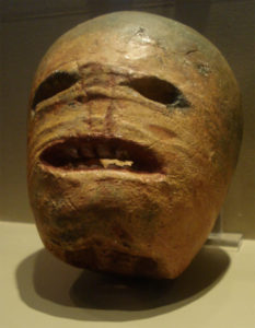 A traditional Irish Jack-o'-Lantern in the Museum of Country Life, Ireland.