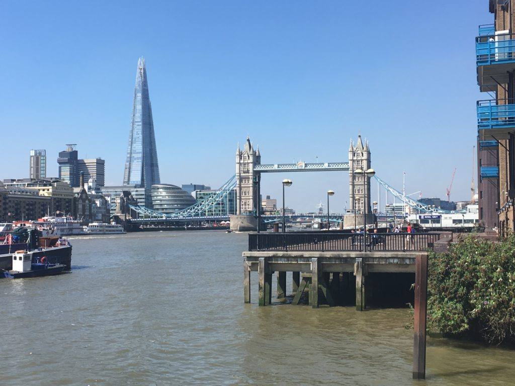 Tower Bridge and the Shard in London